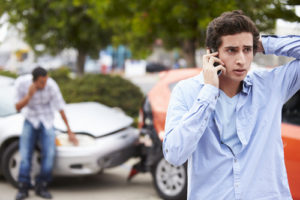 phone call after wreck